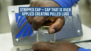 troubleshooting metal caps - stripped cap