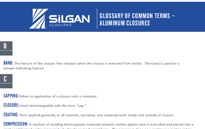 Aluminum Closures from A to Z